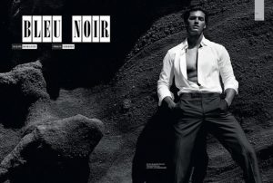 Matthew Terry for GQ bleu noir