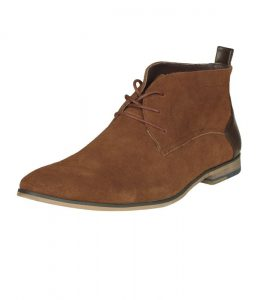 bottines desert marron