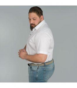 chemisette blanche homme
