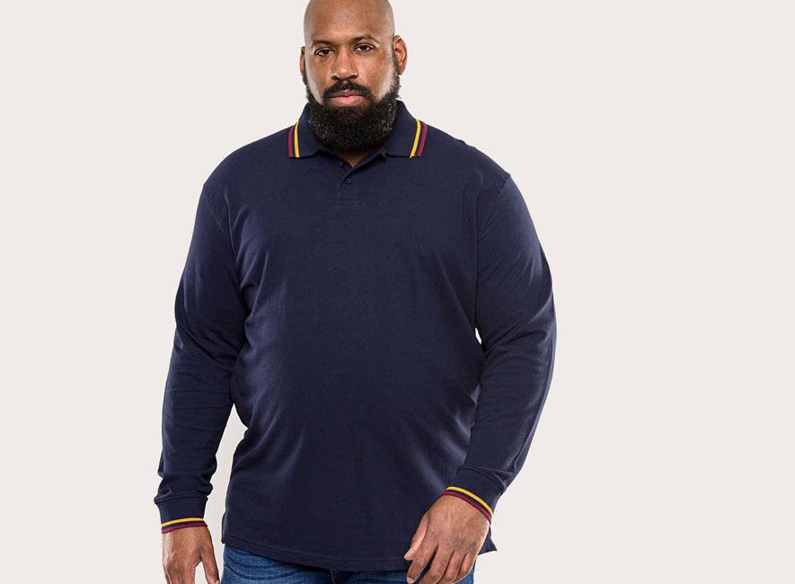 Polo à manches longues Duke pour homme grande taille